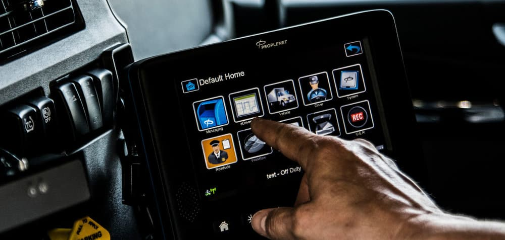 Whether you purchase an in-cab telematics system or one using mobile devices, it's important to understand what data it will provide and whether that data will match your needs. ( Photo: PeopleNet )