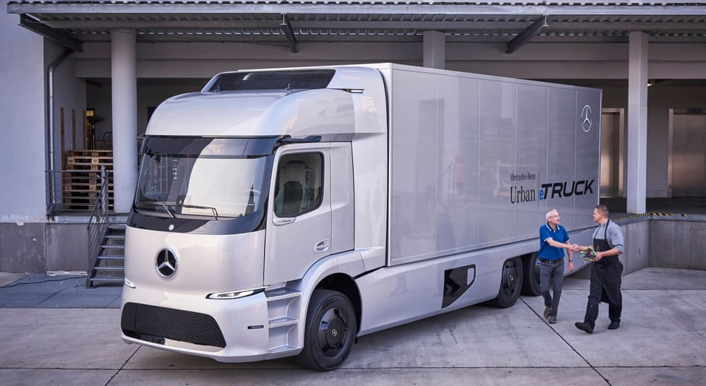 The all-electric Mercedes-Benz Urban eTruck is in customer trials right now. Parent company Daimler is expected to bring an electric truck to the U.S. in 2018.