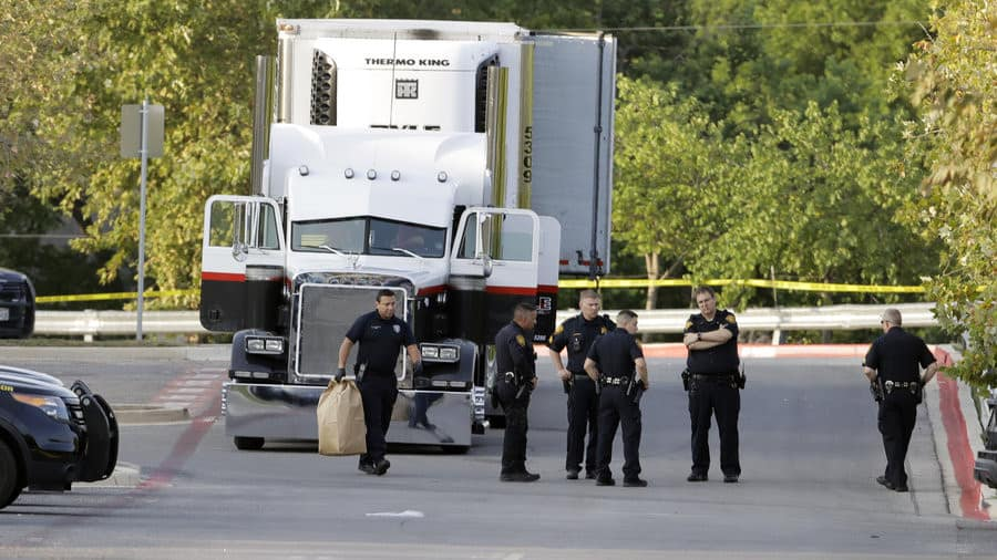 Photo of Trafficking suspected as 8 found dead, 30 injured inside trailer