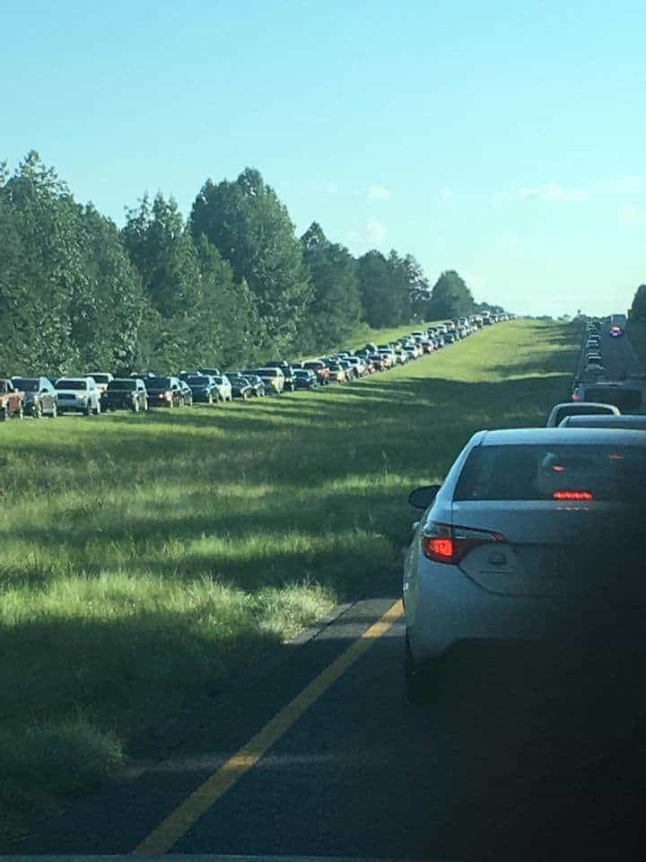 Eclipse traffic from Atlanta to Chattanooga on Saturday afternoon 8/19 courtesy: Arthur Bass