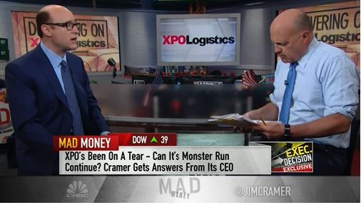 """Photo of XPO CEO Brad Jacobs says on CNBC- """"Fully autonomous trucks in ten years."""""""