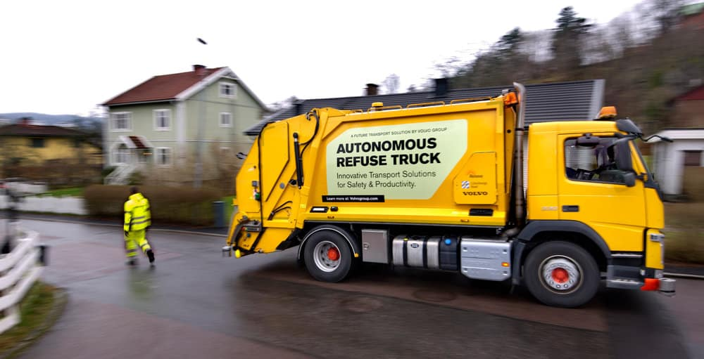 Volvo is testing an autonomous refuse vehicle in Sweden. CTO Lars Stenqvist says that people are hesitant about the technology until the company can demonstrate it.