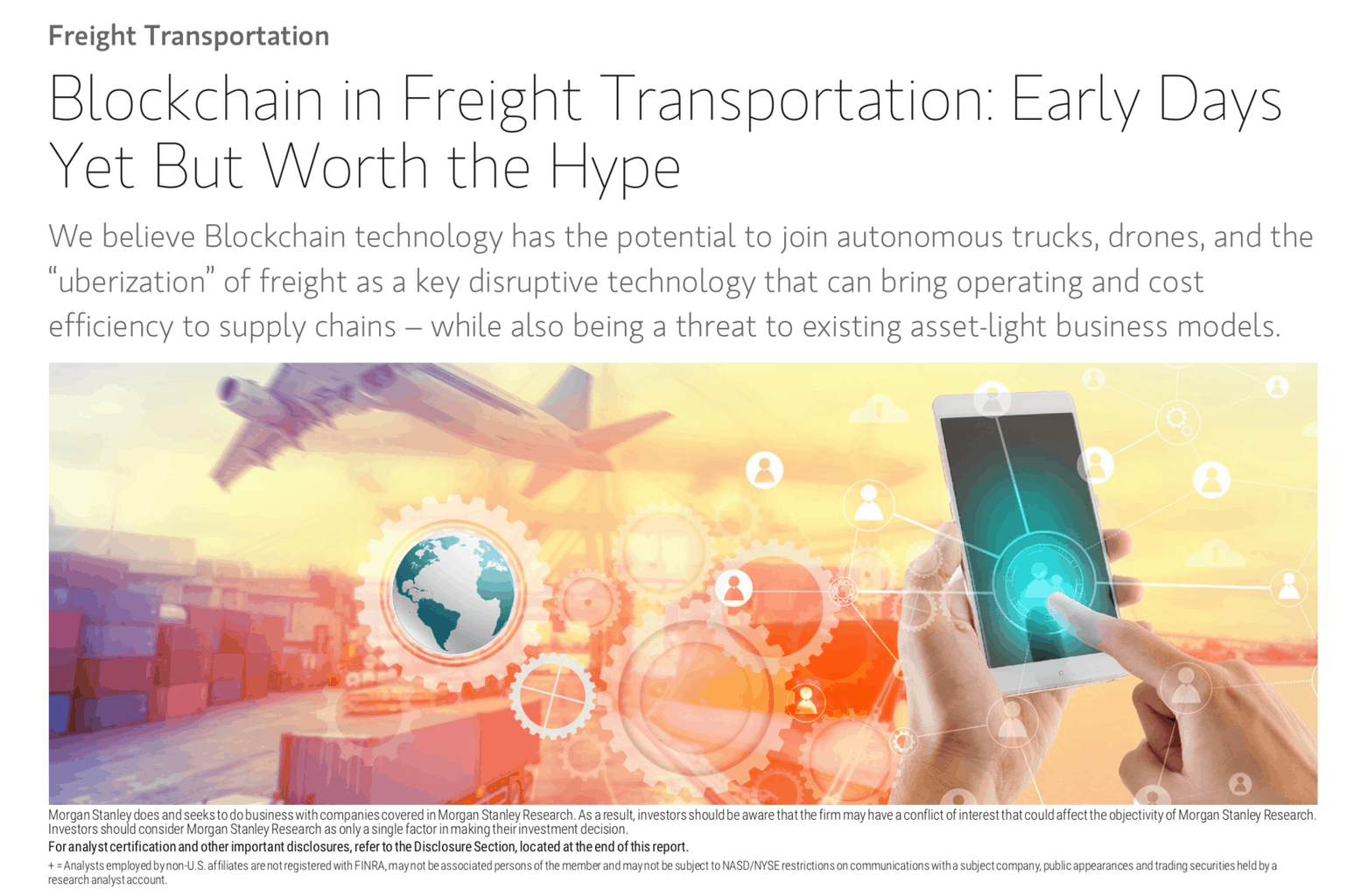 Photo of Key takeaways from Morgan Stanley's Blockchain in Freight report
