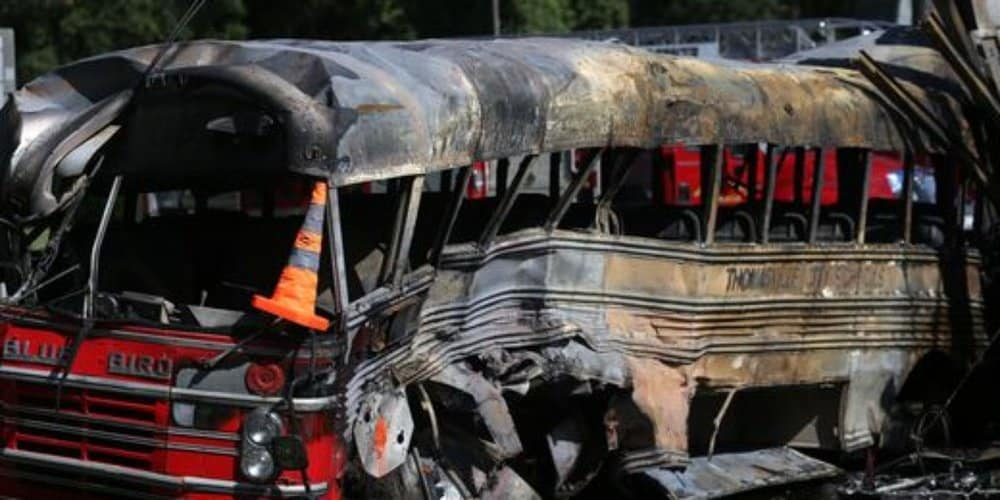 The November 2015 bus accident that killed six migrant workers in Florida is pictured.
