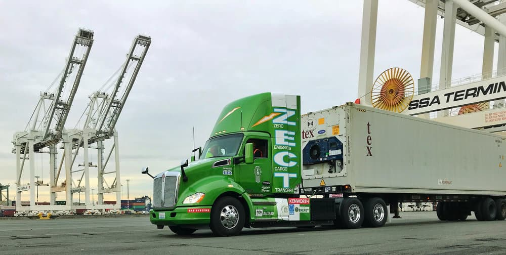 Kenworth's T680 hydrogen test vehicle is being used in the California ports.
