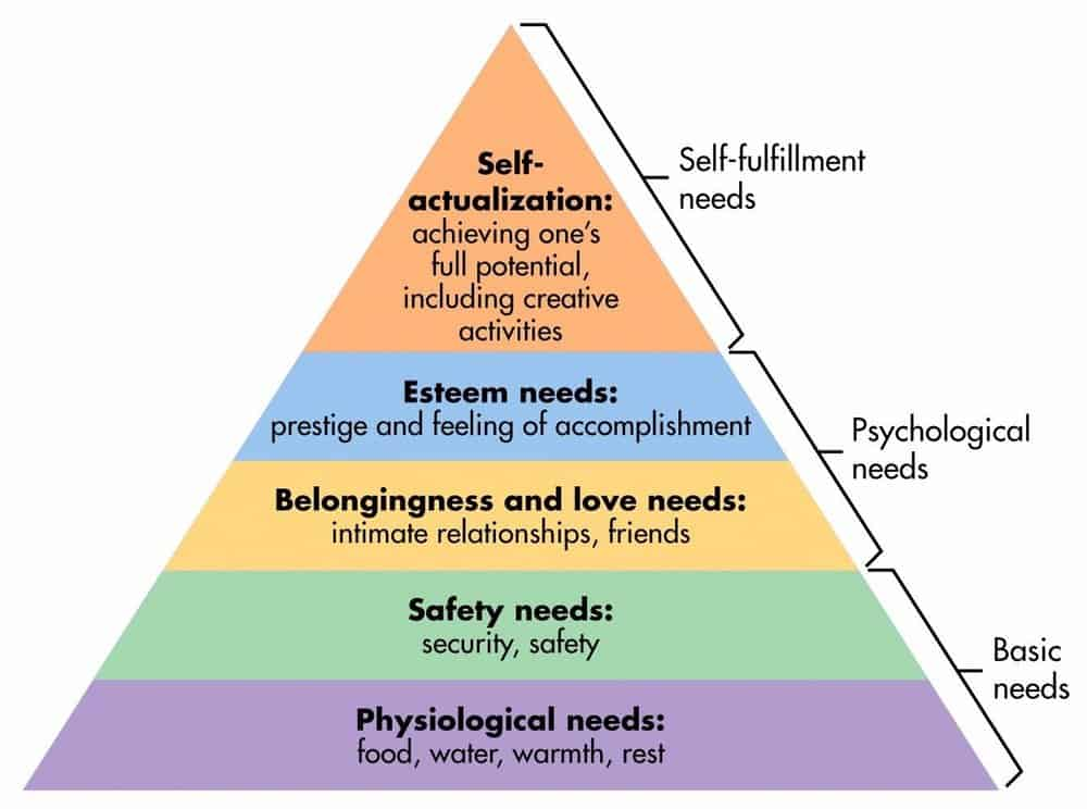 Meeting the basic needs leads to higher level functioning and satisfaction.
