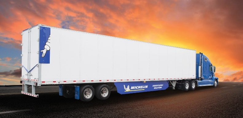 Michelin's Energy Guard aerodynamic package came out of its incubator program and is part of the company's efforts to offer overall solutions to customers.