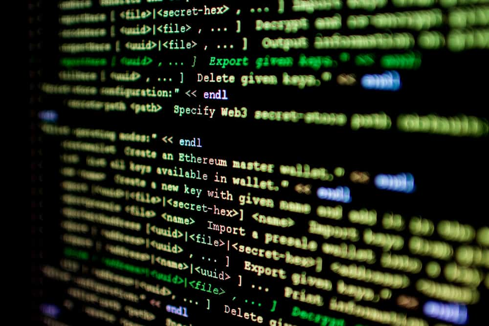 The source code for a smart contract on the Ethereum network. ( Photo: Shutterstock )