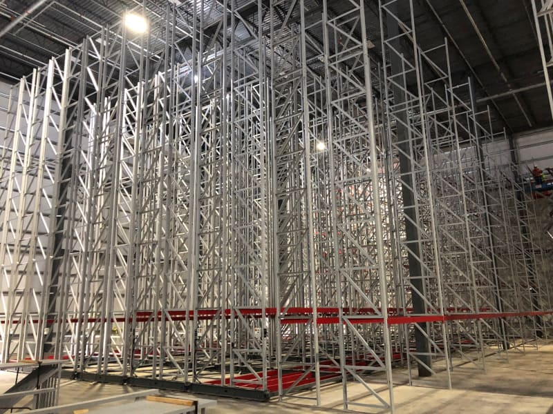Mobile racking, used in Europe for years, is part of RLS Logistics' Delanco, NJ, warehouse. The racks move along rails, similar to an accordion, allowing for more product storage, easier access, and less overall footprint.