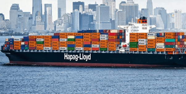 A Hapag-Lloyd container ship