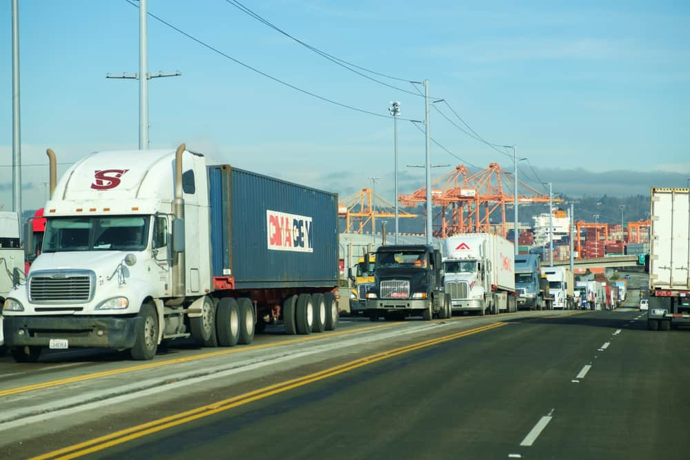 Trucks leaving the Port of Tacoma. ( Photo: Shutterstock )