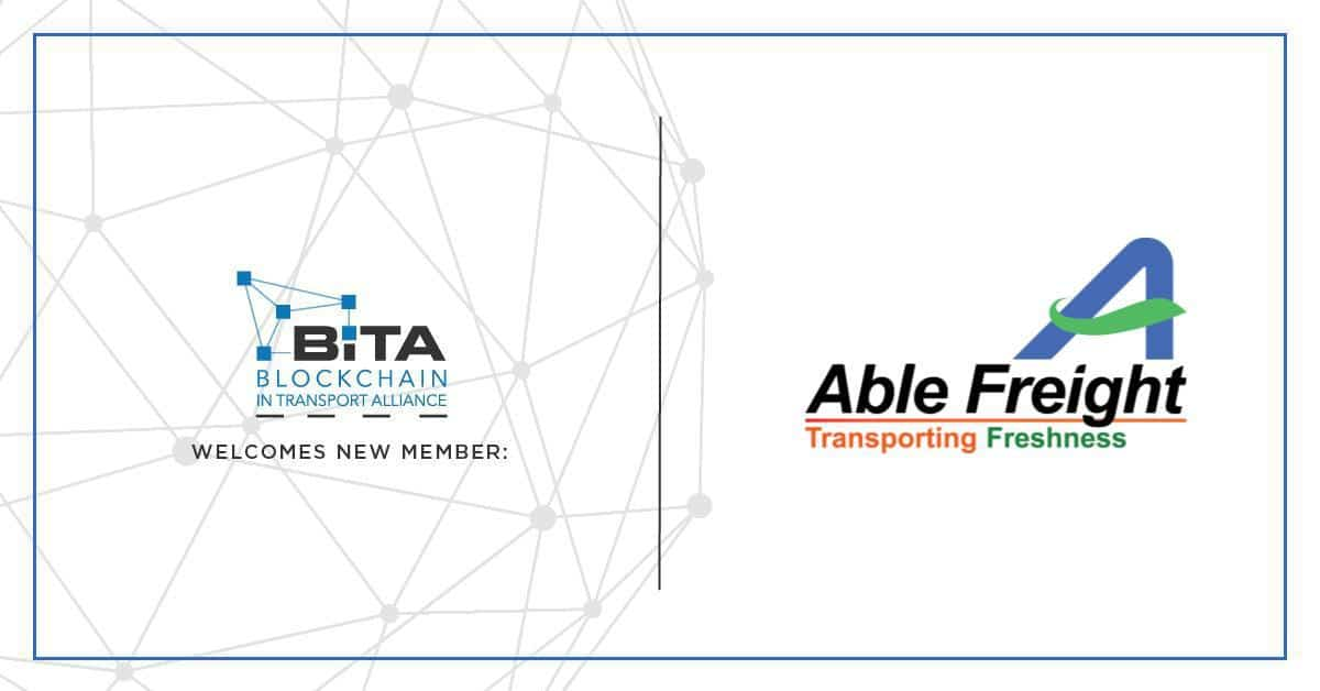 Photo of Able Freight joins the Blockchain in Transport Alliance