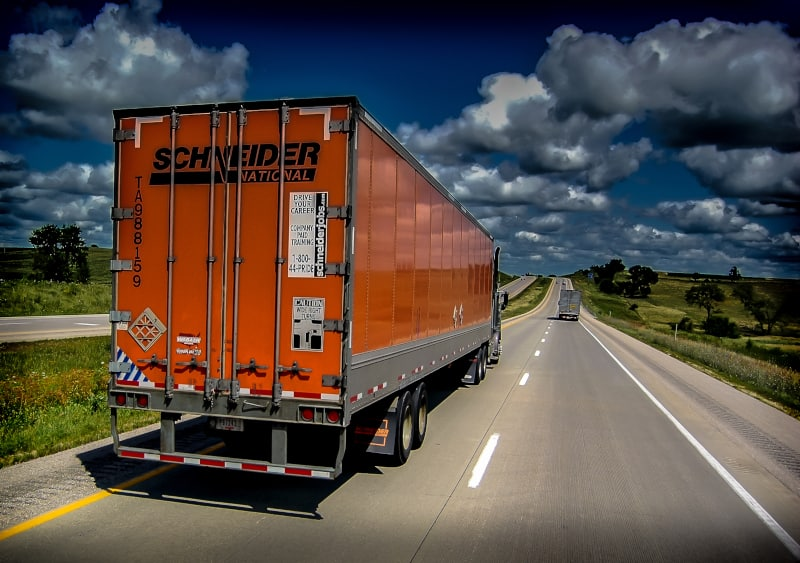Schneider National has a Crisis Communications Team that is responsible for planning the safety of employees, equipment and customer freight during hurricanes and other adverse weather situations. (Photo: Truckstockimages.com)