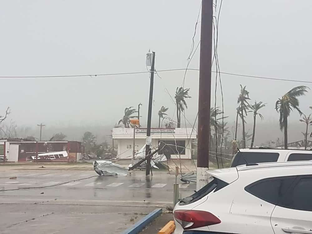Damage on the island of Tinian from Super Typhoon Yutu, October 25, 2018.  (Photo: @emuna670 on Twitter)