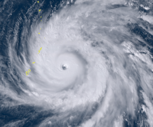 Photo of Yutu now a powerful Super Typhoon, closing in on U.S. territories