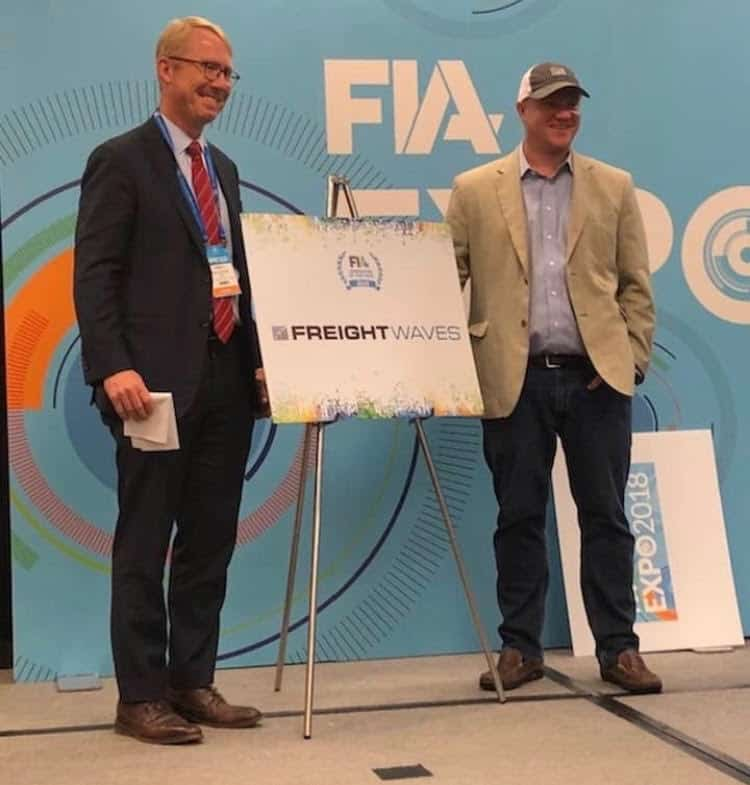 Photo of FreightWaves named FIA Innovator of the Year