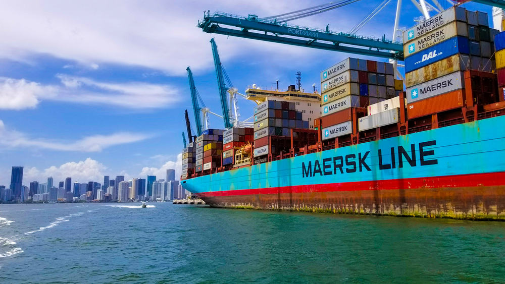 A Maersk ship pulls into Miami ( Photo: Shutterstock )