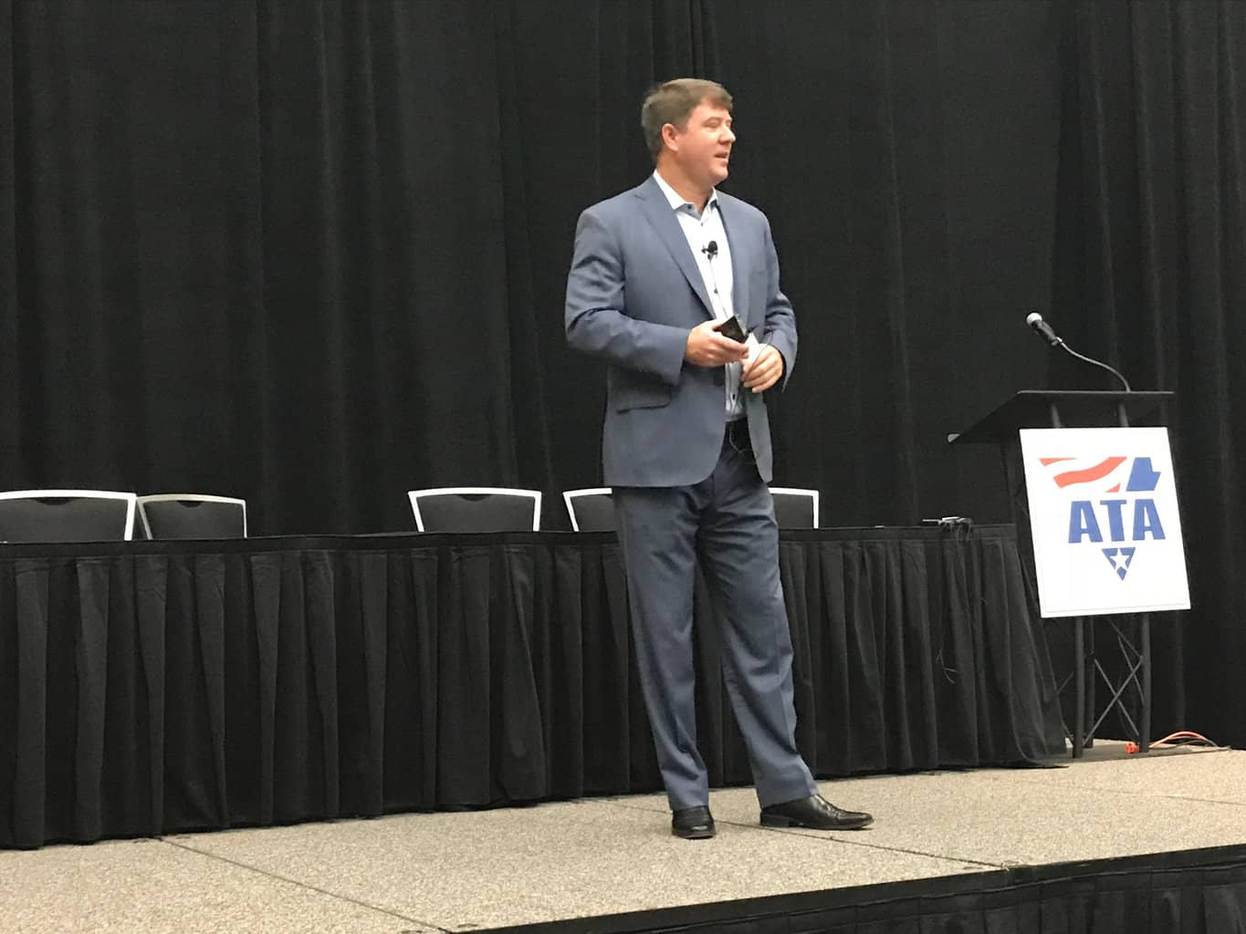 Photo of FMCSA's chief counsel faces numerous regulatory questions at ATA, including the definition of personal conveyance
