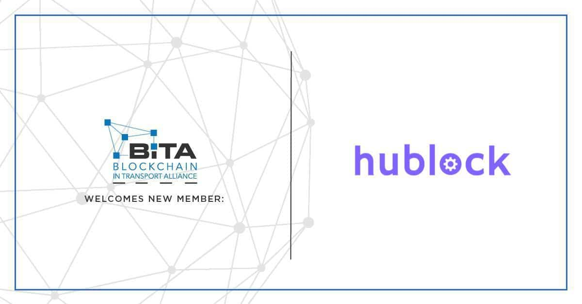 Photo of Hublock Becomes a Member of the Blockchain in  Transport Alliance