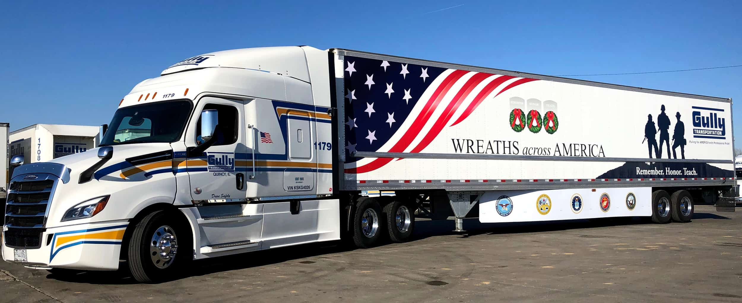 Photo of Veteran driver hauls wreaths to Arlington National Cemetary in honor of son killed in Iraq