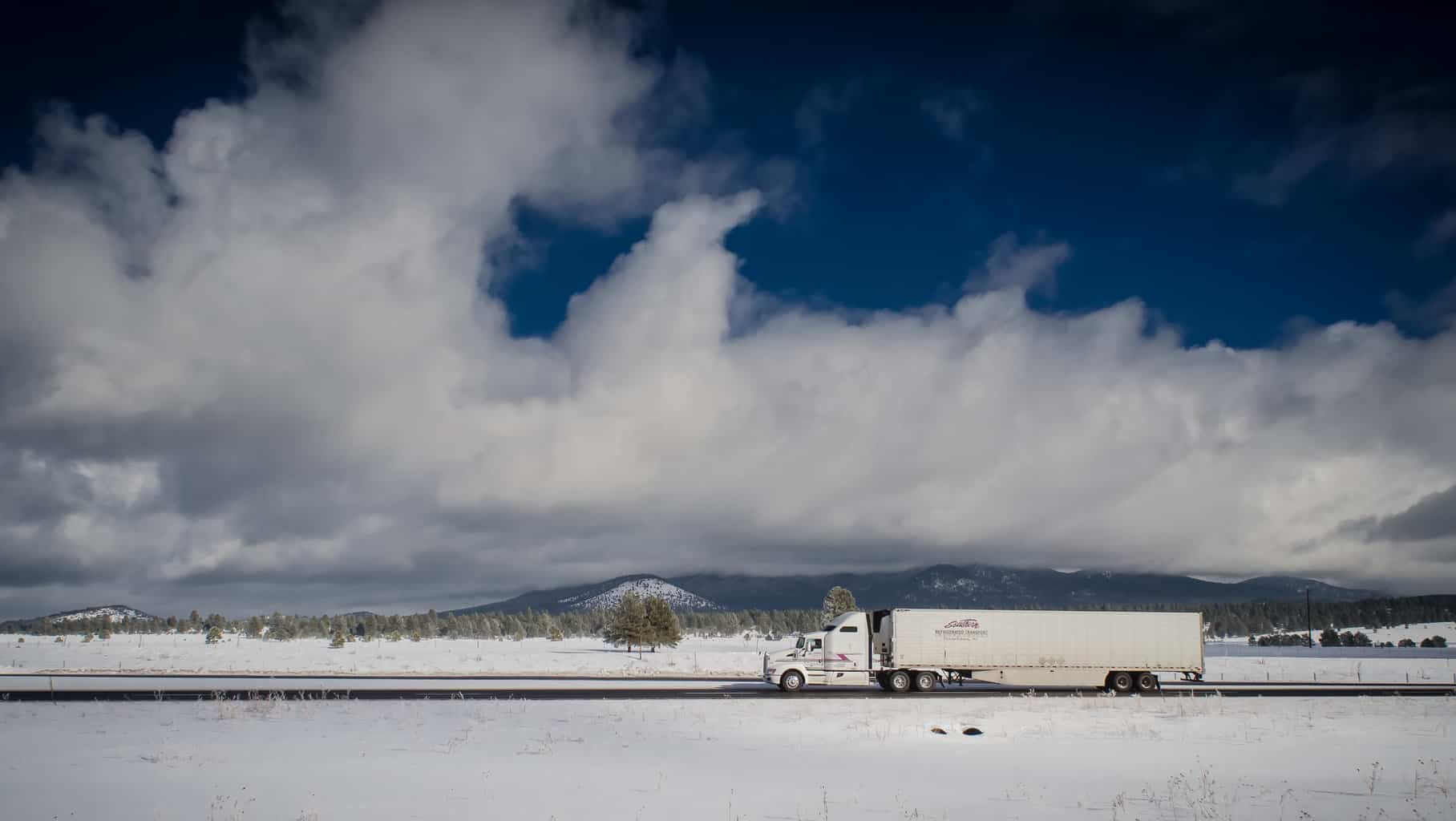 Photo of Snowy, icy roads to make weekend driving dicey for truckers, holiday travelers