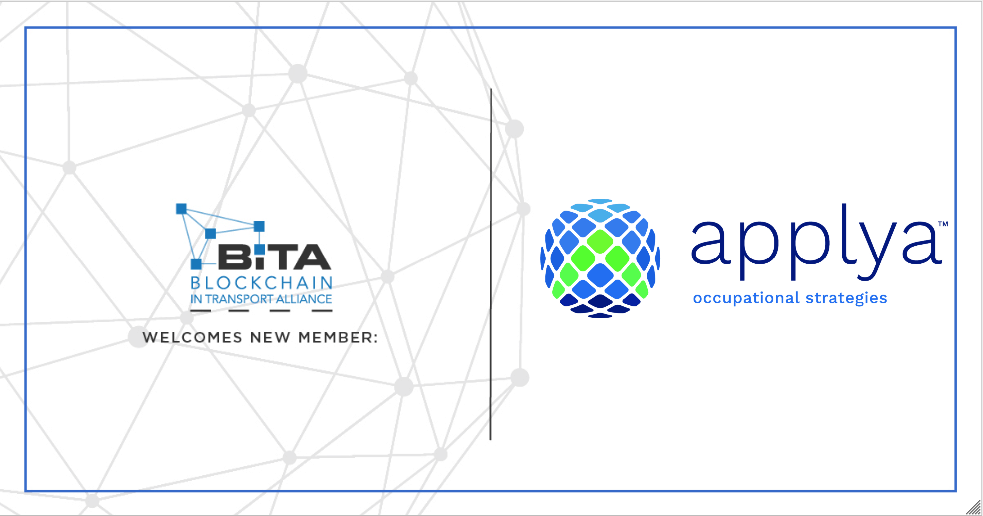 Photo of applya Occupational Strategies joins the Blockchain in Transport Alliance