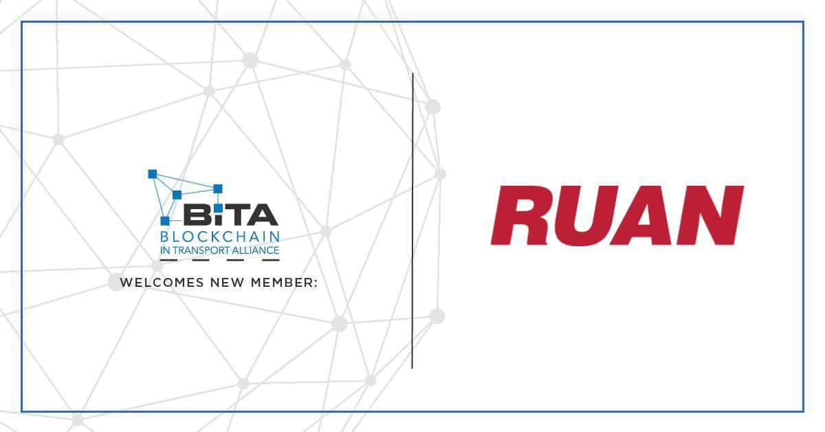Photo of Ruan joins the Blockchain in Transport Alliance