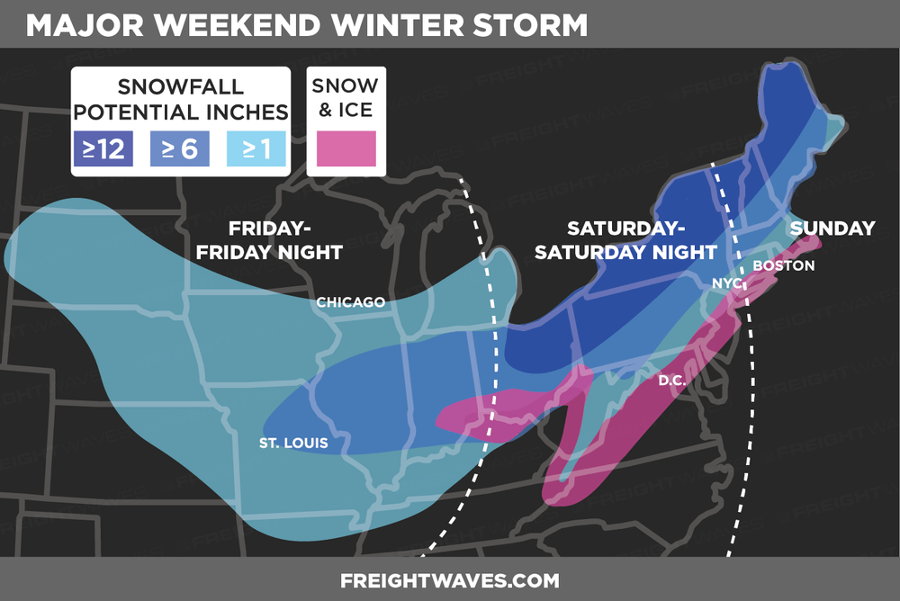 ESTIMATES FOR WEEKEND STORM