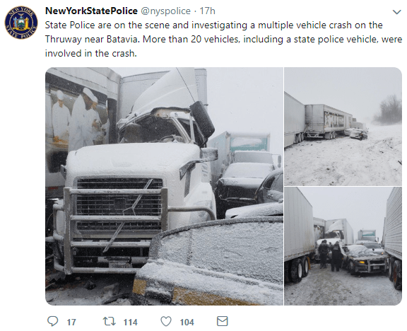 Serious wrecks, travel bans during wicked winter weather - FreightWaves