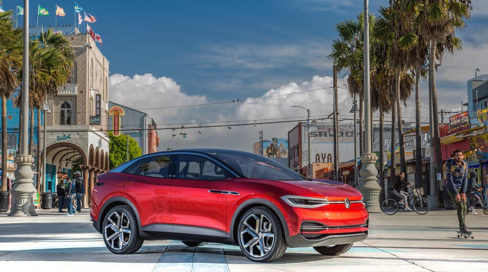 The Volkswage I.D. Crozz electric vehicle concept.
