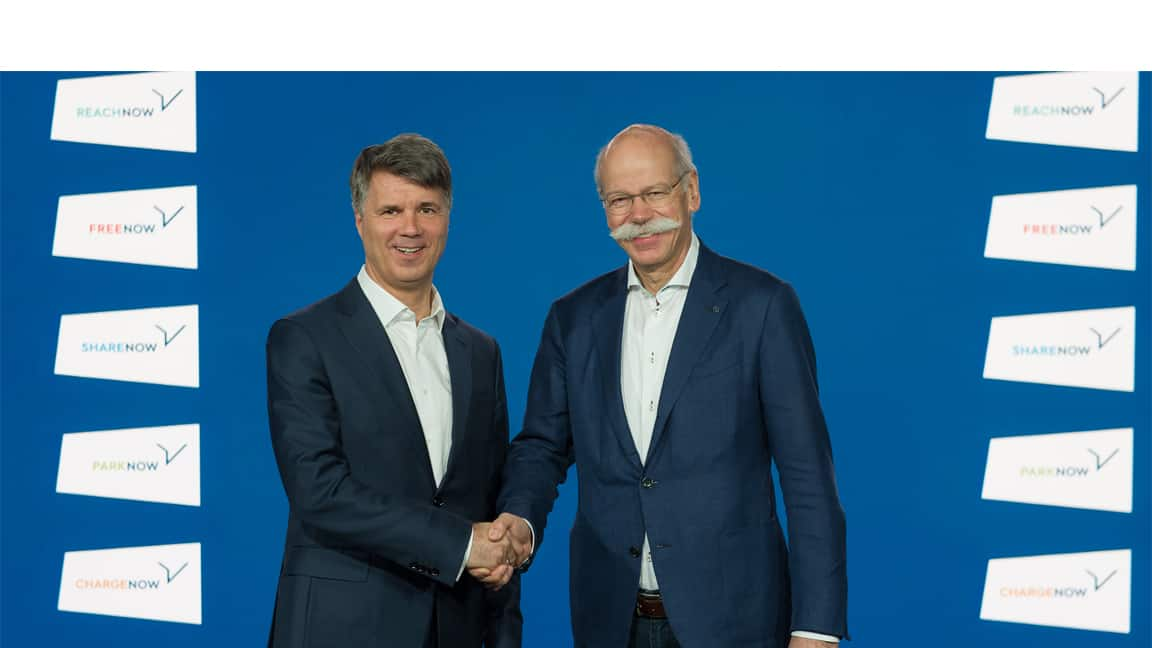 Photo of BMW and Daimler partner in a €1 billion mobility joint-venture