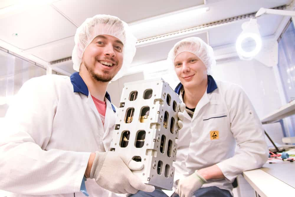 Advances in technology have led developers to create satellites not much bigger than a shoe box that can be launched into orbit for as little as  million, less than 10% of the previous cost to do so. ( Photo: Reaktor )