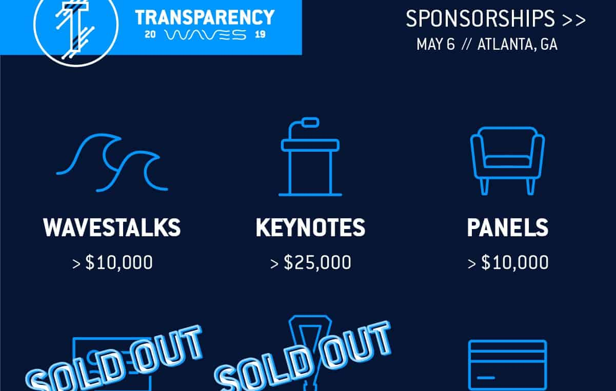 Photo of Transparency19 sponsorship opportunities