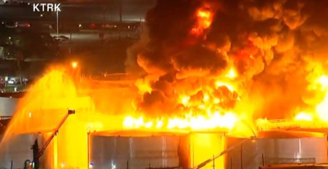 Photo of Houston channel still experiencing backlog from fire