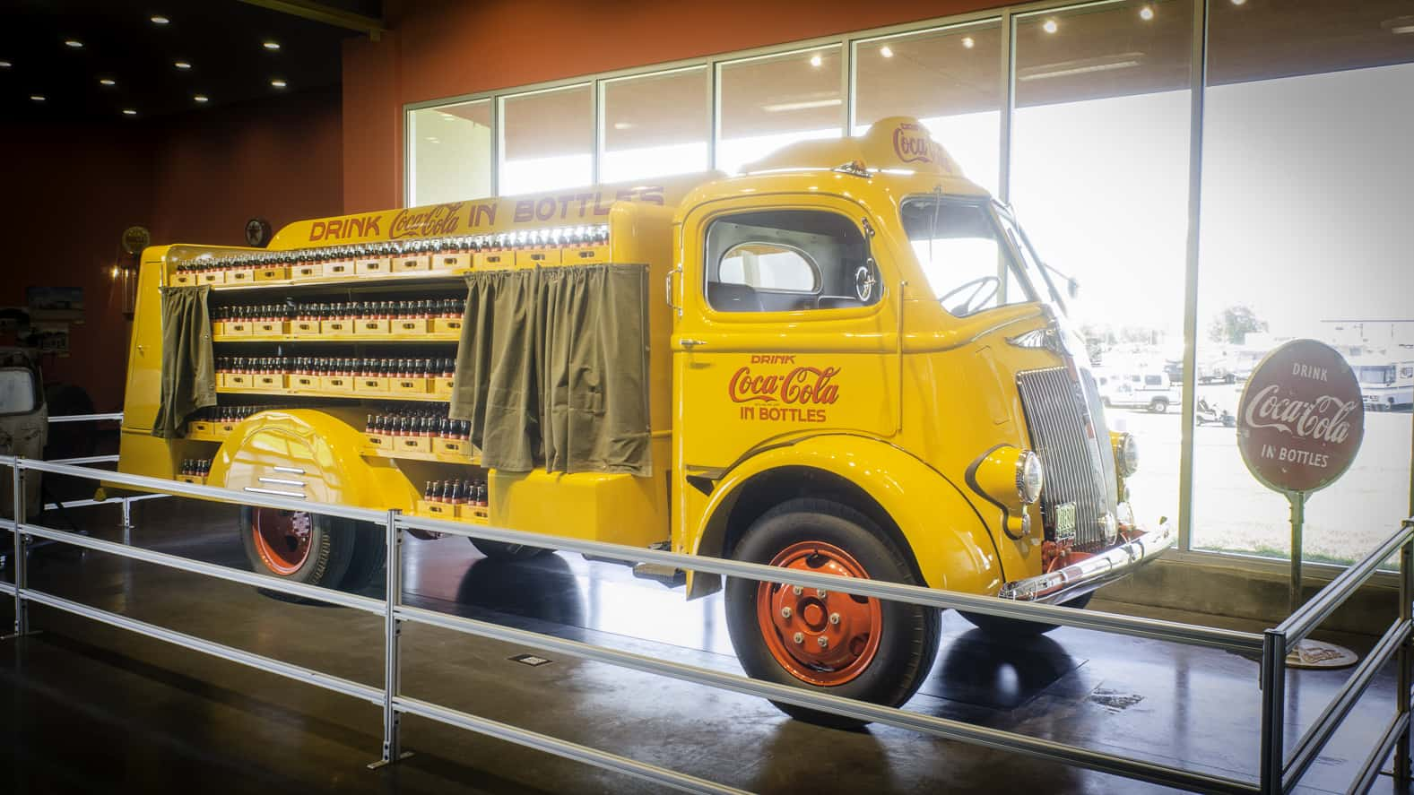 74104e3902862 1944 white motor company delivery truck used by the coca-cola company. Jim  Allen/FreightWaves @ Iowa 80 Trucking Museum