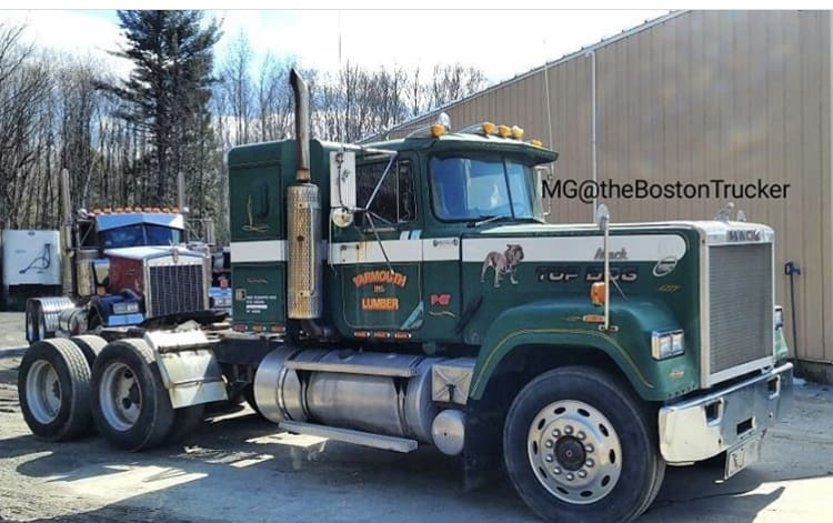 the one-millionth mack truck - a 1986 Mack Superliner. photo courtesy of the boston trucker.