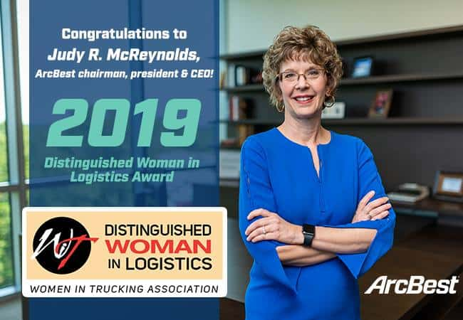 Photo of ArcBest CEO named Women in Trucking's Distinguished Woman in Logistics