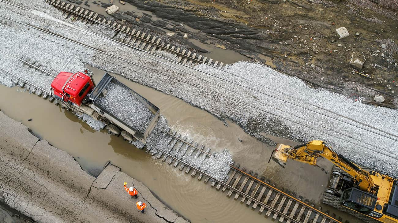 Photo of Railroads rolling again after historic flooding