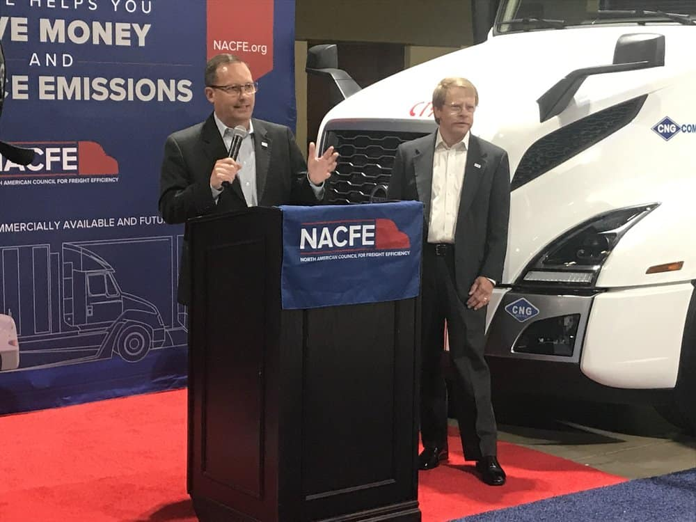 NACFE executive director Mike Roeth (left) and Rick Mihelic, director of future technologies ( Image: Linda Baker )