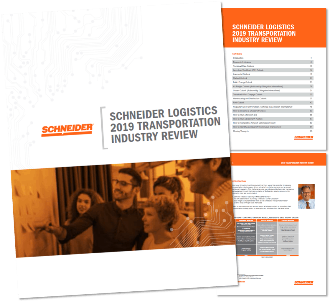 Photo of Schneider Logistics releases 2019 Transportation Industry Review to help shippers prepare for the rest of 2019