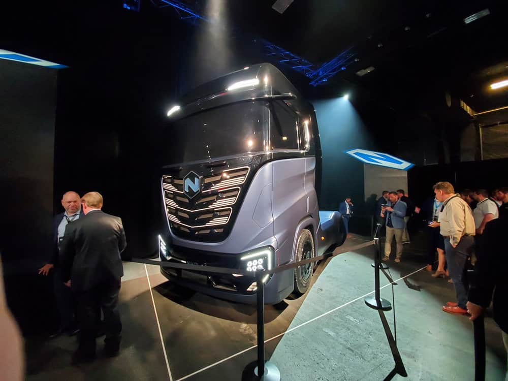 The Nikola Tre is nearly identical in specs to the Nikola Two, but will be marketed to the European market. ( Photo: Brian Straight/FreightWave s)