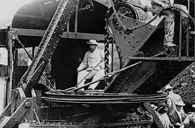 president theodore roosevelt at the panama canal construction site. photo courtesy of milwaukeemag.org