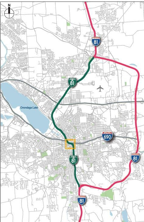Grand plan for Interstate 81 in Syracuse would route traffic