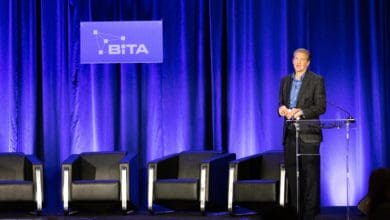 Photo of IBM's Stephen Rogers addresses BiTA on transport's adoption of blockchain