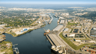 Photo of Houston Ship Channel partially closed after chemical spill