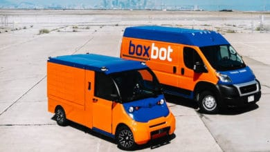 Photo of BoxBot testing autonomous electric vehicles for parcel firm OnTrac