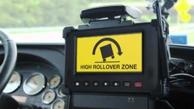 Photo of Drivewyze rolls out low bridge and high rollover curve alerts for truckers (with video)