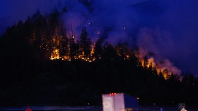Photo of Wildfire shuts down lanes on I-5 in Oregon