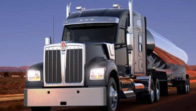 Photo of Kenworth W990 lavishes luxury inside a driver's long-hood dream truck