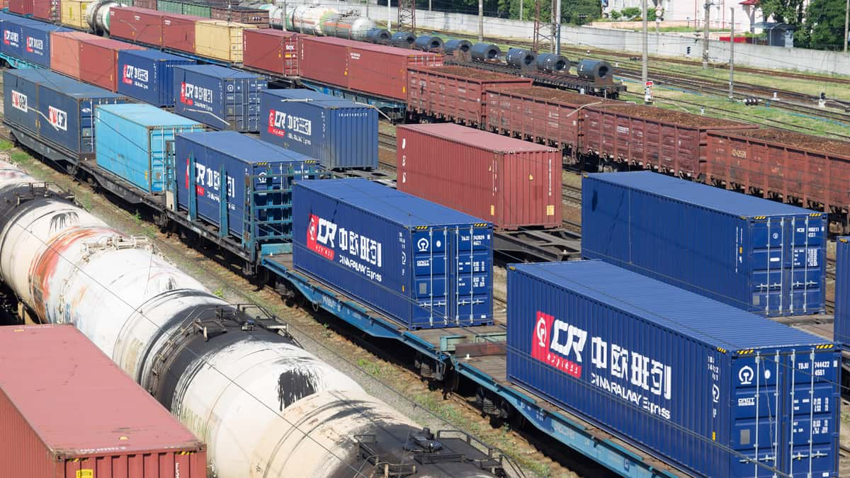 The freight railway route from China to Europe is not generating business volume (Photo: Shutterstock)